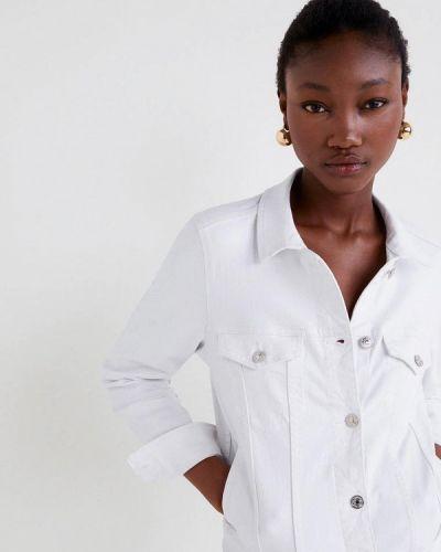 Джинсовая куртка весенняя белая Mango