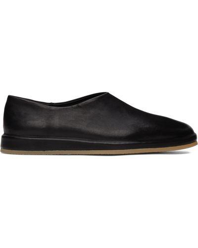 Czarne loafers skorzane na obcasie Fear Of God