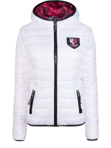 Стеганая куртка на молнии мятная с нашивками с карманами Plein Sport