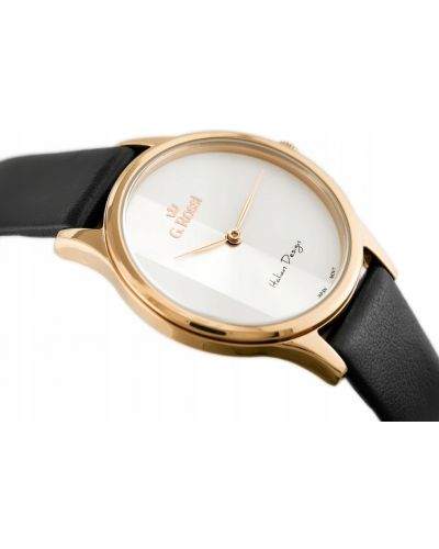 Biały klasyczny złoty zegarek na skórzanym pasku Gino Rossi