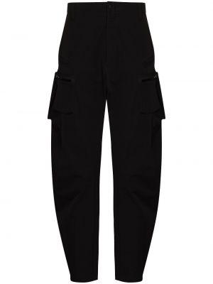 Зауженные брюки карго - черные Acronym