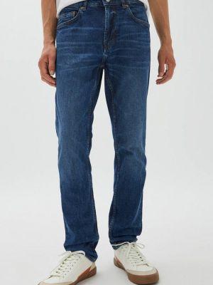 Синие джинсы с медведем Pull&bear