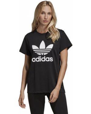 Футболка черная футбольный Adidas Originals