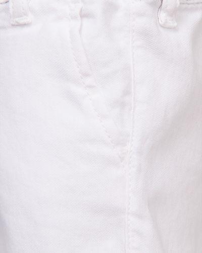 Хлопковые белые шорты Armani Junior