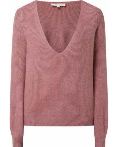 Różowy sweter z dekoltem w serek Review