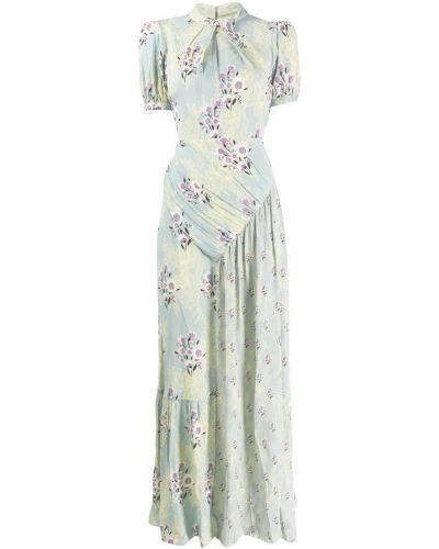 Платье макси с открытой спиной с цветочным принтом Self-portrait