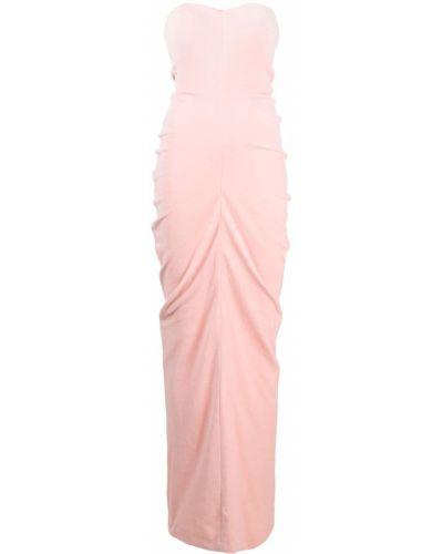 Sukienka długa bawełniana - różowa Alexander Wang