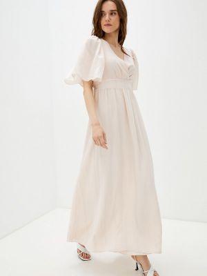 Прямое розовое платье А-силуэта Naf Naf