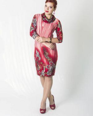 Деловое платье повседневное из вискозы Lautus