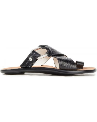 Sandały skórzane na obcasie - czarne Rag & Bone