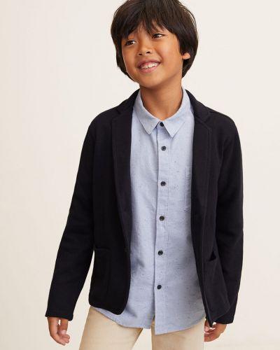 Темно-синий классический пиджак на пуговицах Mango Kids