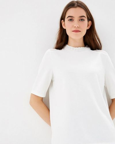 Белая блузка с коротким рукавом S.oliver