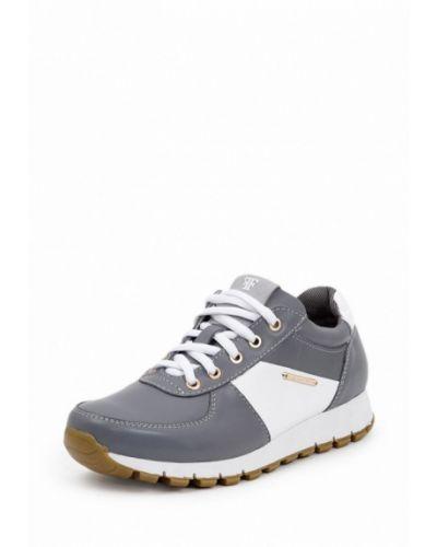 Серые кроссовки на платформе Frivoli