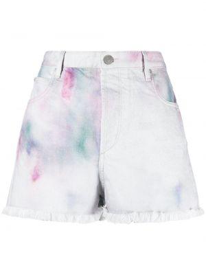 Хлопковые белые джинсовые шорты Isabel Marant étoile