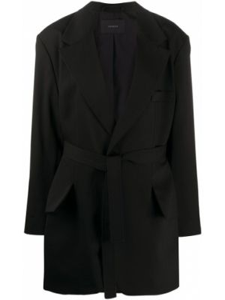 Черная свободная куртка свободного кроя с поясом Frenken