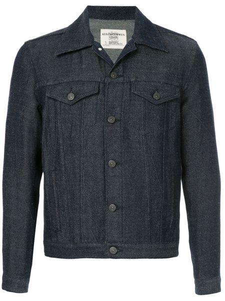 Джинсовая куртка льняная синяя Kent & Curwen