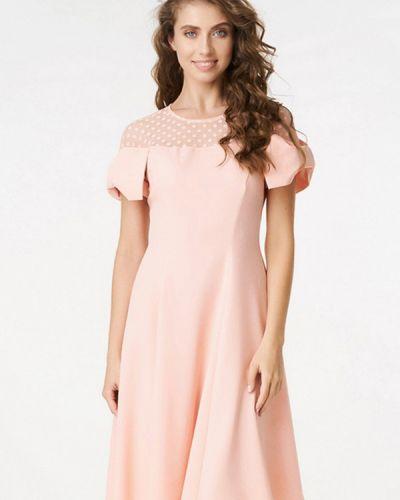 Розовое платье весеннее Ricamare