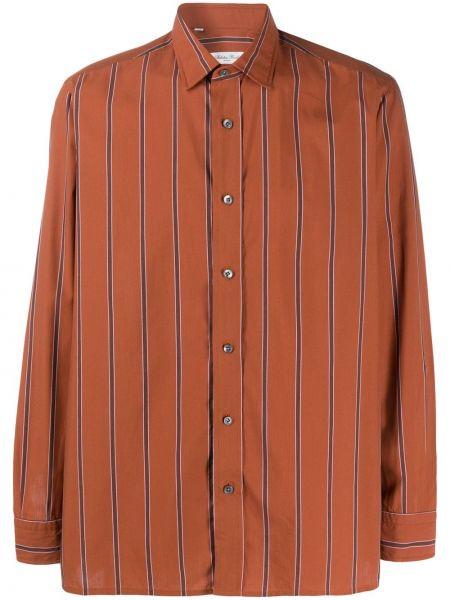Классическая прямая классическая рубашка с воротником с нашивками Salvatore Piccolo