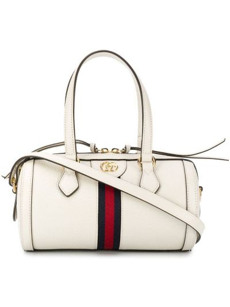 Z paskiem biały torba na ramię z prawdziwej skóry Gucci