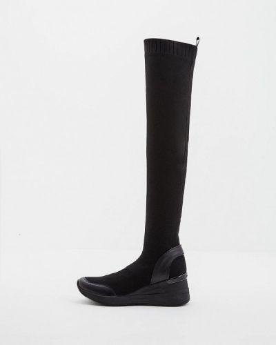 Ботфорты на каблуке кожаные Michael Michael Kors