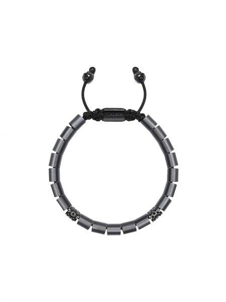 Нейлоновый черный браслет Nialaya Jewelry