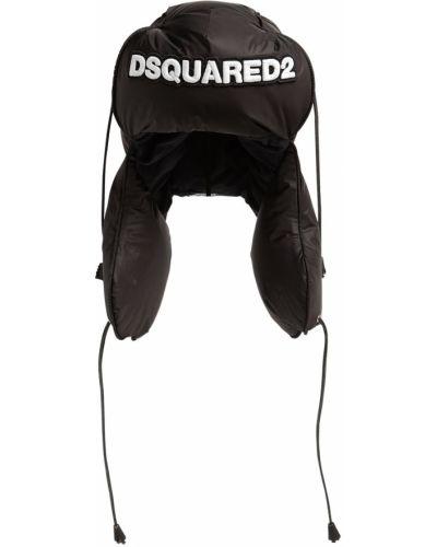 Czapka z nausznikami - czarna Dsquared2