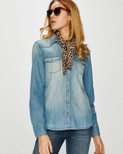 Блузка с длинным рукавом однотонная прямая Mustang