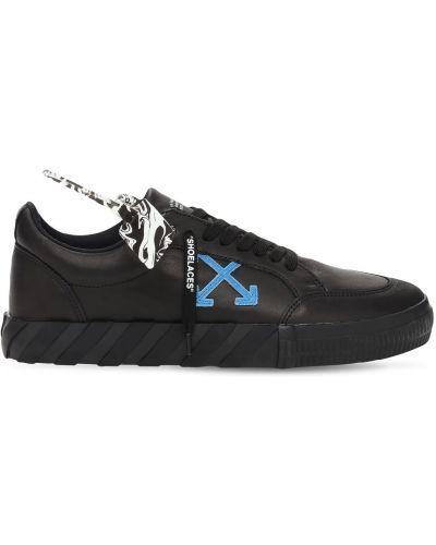 Кожаные кроссовки - черные Off-white