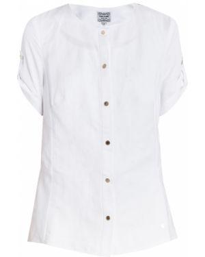 Белая блузка из вискозы Finn Flare