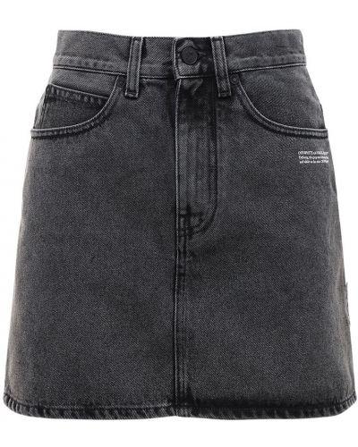 Niebieski spódnica mini z kieszeniami Off-white