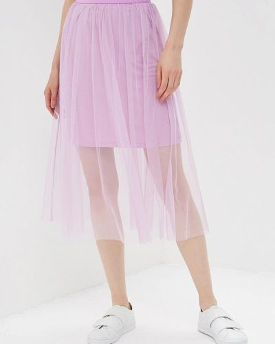 Фиолетовая юбка осенняя Modis
