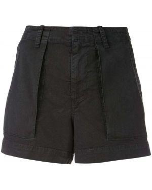 Черные шорты карго с карманами на пуговицах Nili Lotan