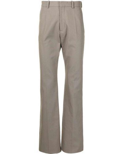 Beżowe spodnie z paskiem bawełniane Raf Simons