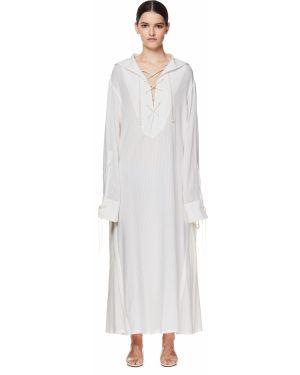 Платье макси длинное - белое Ann Demeulemeester