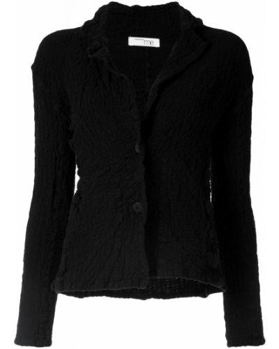Длинная куртка черная на пуговицах Issey Miyake Cauliflower