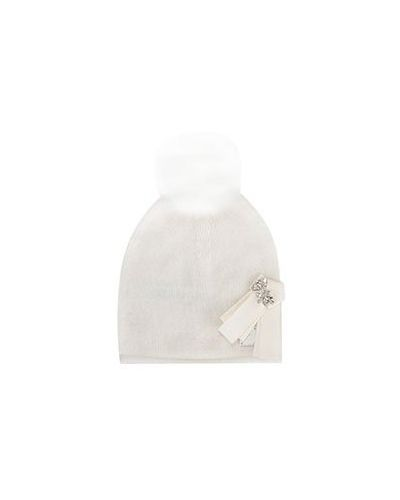 Белая шапка Liu Jo