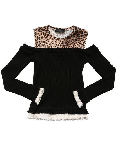 Трикотажный свитер - черный Monnalisa