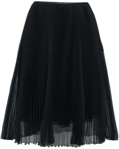 Юбка плиссированная шелковая Prada