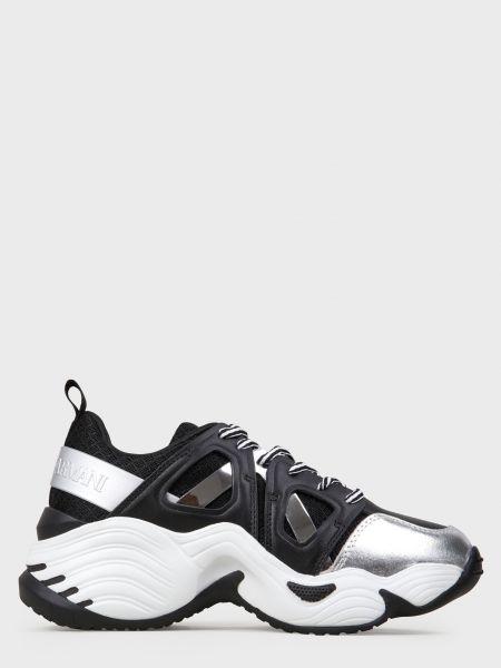 Кожаные кроссовки - черные Emporio Armani