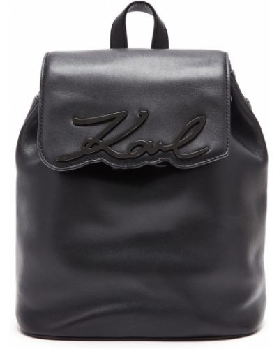 Кожаный рюкзак черный Karl Lagerfeld