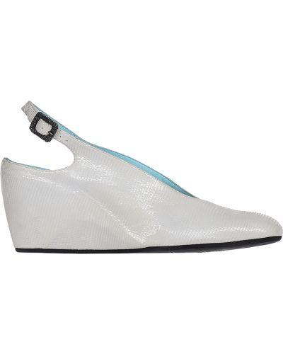Босоножки на каблуке кожаные Thierry Rabotin