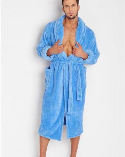 Niebieski szlafrok elegancki Dkaren