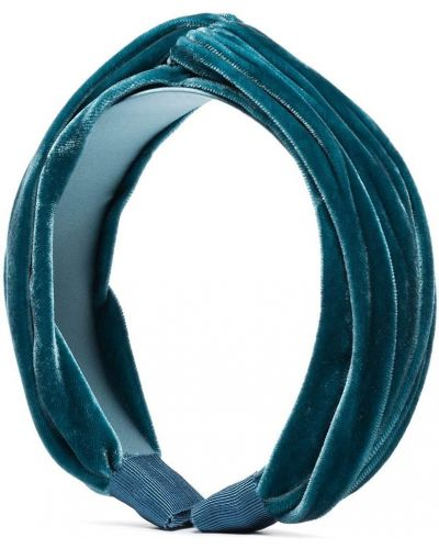Niebieska opaska z jedwabiu Jennifer Behr