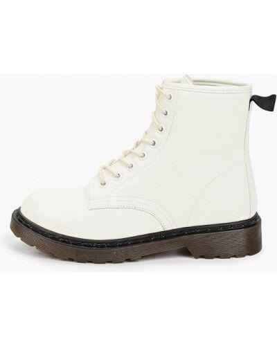 Белые кожаные ботинки Go-go