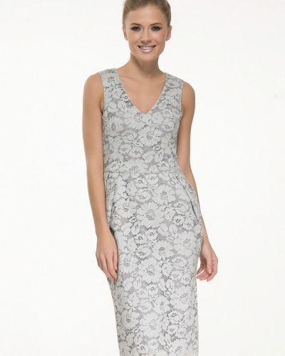 Вечернее платье серое осеннее Yulia'sway