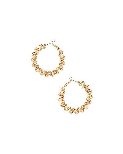 Золотые серьги позолоченные золотой Ettika