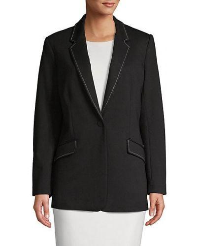 Черная длинная куртка с подкладкой с длинными рукавами T-tahari