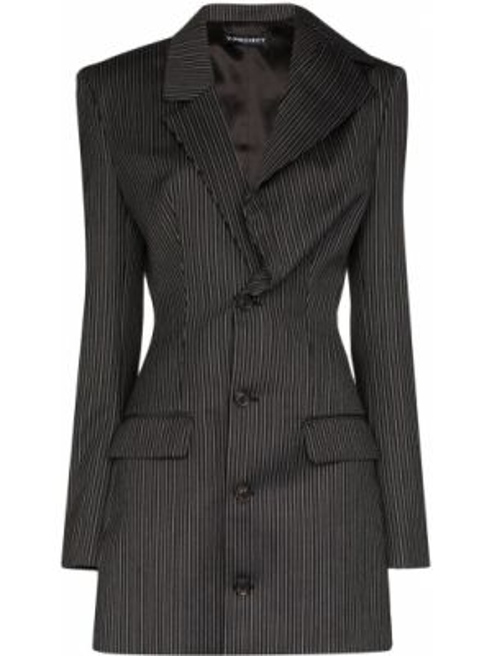 Шерстяной серый пиджак с карманами Y/project