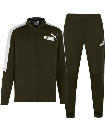 Prążkowany klasyczny dres skórzany Puma