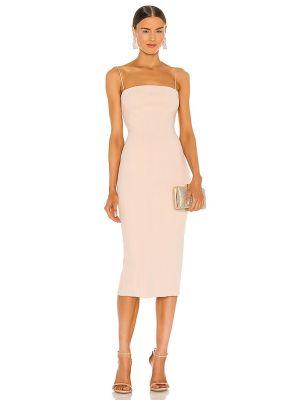 Деловое текстильное платье с разрезом на молнии Misha Collection